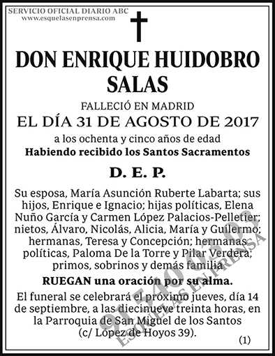 Enrique Huidobro Salas